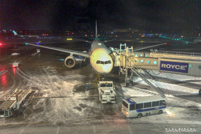 ANA 伊丹→新千歳 NH1157便 搭乗記   たんたん そら たんたん
